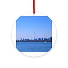 Toronto Summer Skyline Ornament (Round)