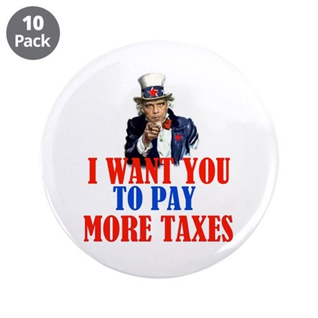 """TAX AND SPEND SAMBO 3.5"""" Button (10 pack)"""