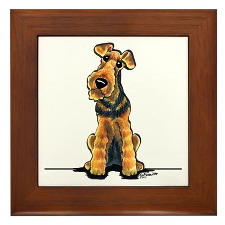 Airedale Welsh Terrier Framed Tile