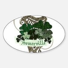 Somerville Irish Sticker (Oval)