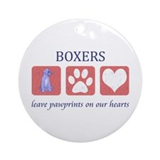 Boxer Lover Gifts Ornament (Round)