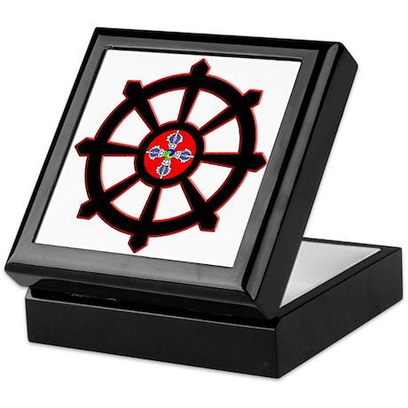 dharma wheel of life Keepsake Box