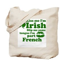 Unique Kiss me i'm irish Tote Bag