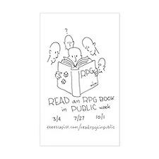 Cute Read an rpg book in public week Decal