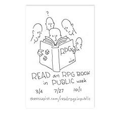 Cute Read an rpg book in public week Postcards (Package of 8)