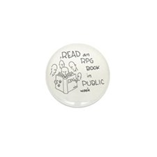 Cute Read rpg book public week Mini Button (100 pack)