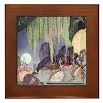 Kay Nielsen Pot of PInks Framed Tile