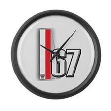 67 Red White Large Wall Clock