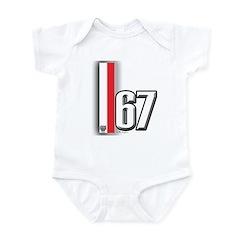 67 Red White Infant Bodysuit