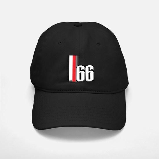 66 Red White Baseball Hat
