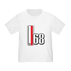 68 Red White T