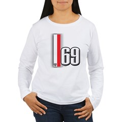 69 Red Whirte T-Shirt
