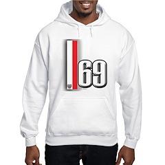 69 Red Whirte Hoodie