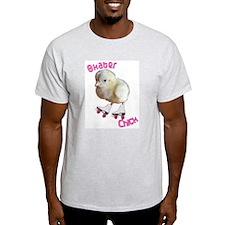 Skater Chick SK8 Ash Grey T-Shirt