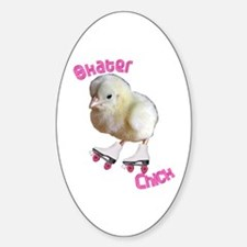 Skater Chick SK8 Oval Decal