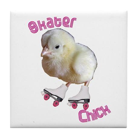 Skater Chick SK8 Tile Coaster