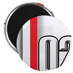 "2002 Red White 2.25"" Magnet (10 pack)"