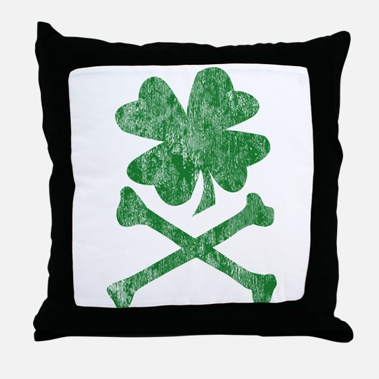 Shamrock & Bones Throw Pillow