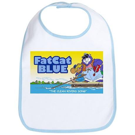 Fat Cat Blue Bib