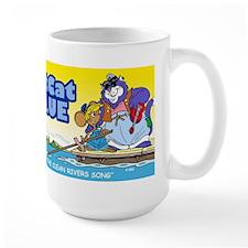 Fat Cat Blue Mug