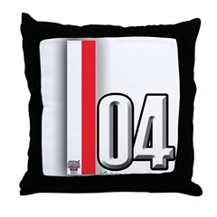 2004 Red White Throw Pillow