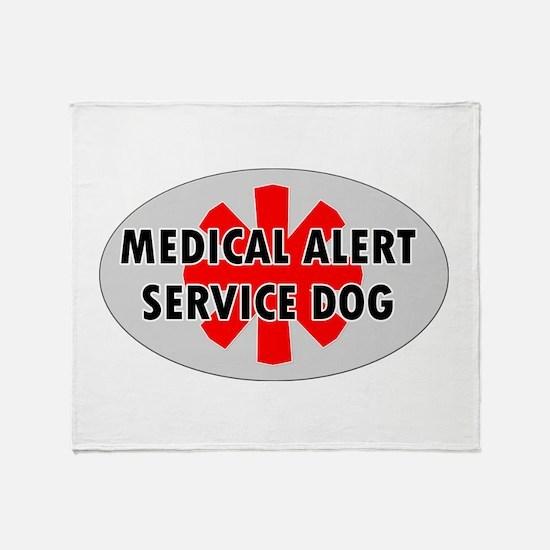 SERVICE DOG SHOP Throw Blanket