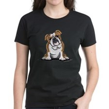 Brown White Bulldog Tee