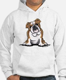 Brown White Bulldog Jumper Hoodie