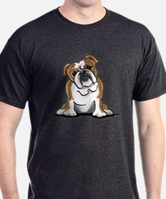 Brown White Bulldog T-Shirt