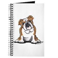 Brown White Bulldog Journal