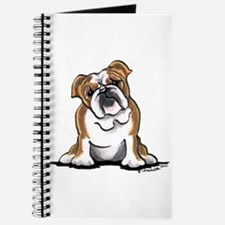 Brown White Bulldog Journal