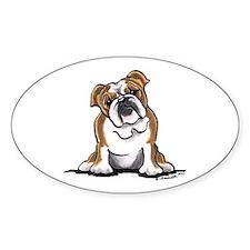 Brown White Bulldog Decal