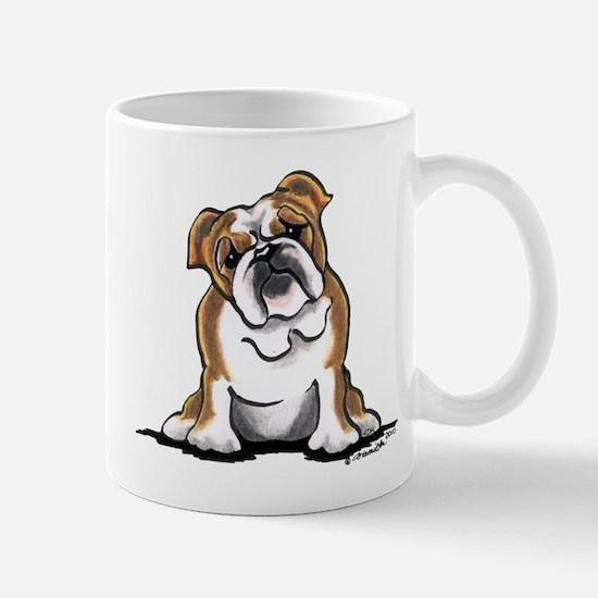 Brown White Bulldog Mug