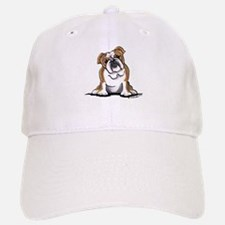 Brown White Bulldog Baseball Baseball Cap
