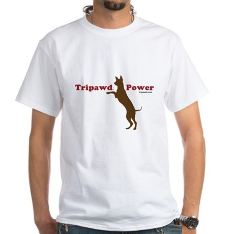 Tripawd Power White T-Shirt