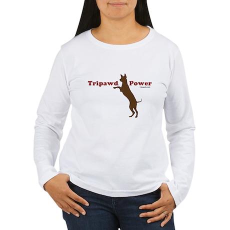 Tripawd Power Women's Long Sleeve T-Shirt