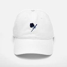 The Black Rose and Dagger Baseball Baseball Cap