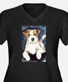 Jack Russell Terrier 2 Women's Plus Size V-Neck Da