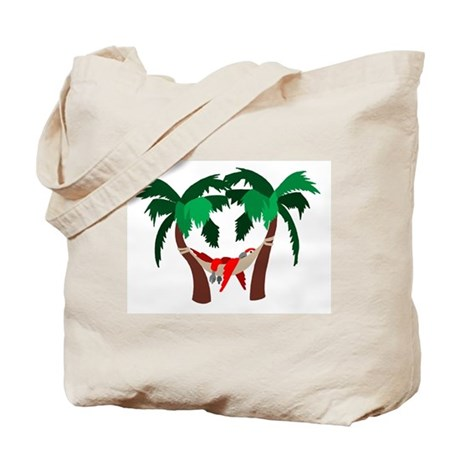 Macaw in Palms Tote Bag