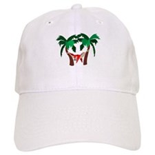 Macaw in Palms Baseball Cap