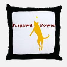 Tripawd Power Throw Pillow