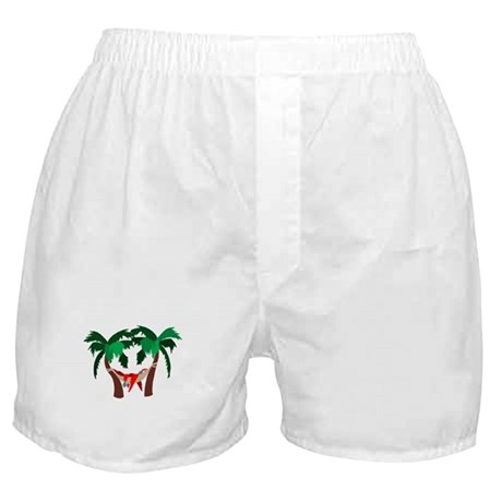 Macaw in Palms Boxer Shorts
