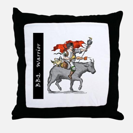 BBQ Warrior Throw Pillow