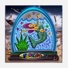 Tile Coaster Mermaid Florida Water Globe