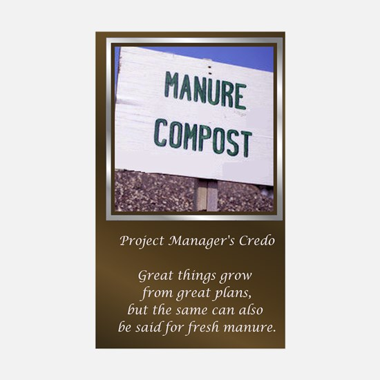 Project Managers Sticker (Rectangle 10 pk)