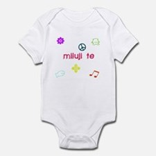 "czech ""i love you"" Infant Bodysuit"