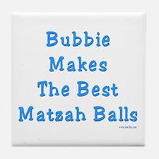 Bubbie Matzah Balls Passover Tile Coaster
