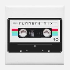 Runners Mix Tape Tile Coaster