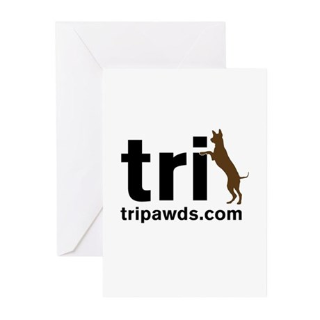 Tri Nation Standing GSD Greeting Cards (Pk of 10)