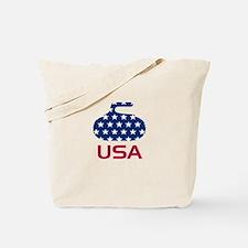 USA curling Tote Bag